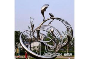 广场景观鲤鱼雕塑鱼跃龙门故事雕塑