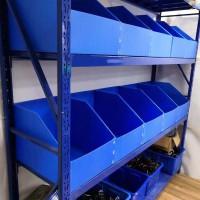 货架分隔板挡板SKU库位隔离板中空板隔板隔断定做