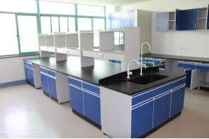 实验室全木中央实验台 边台操作台 信凯上门安装测量