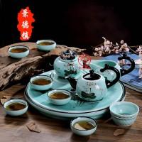 景德镇陶瓷茶具批发 厂家定制陶瓷茶具