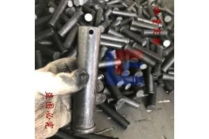 45#钢热处理销轴定位销大销轴平头带孔限位销钉加工