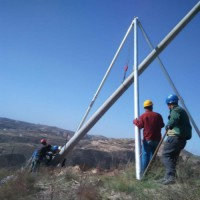 立杆机 10米12米15米 铝合金立杆机 三脚抱杆