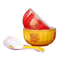 老人生日礼品寿碗定制 祝寿回礼寿碗套装