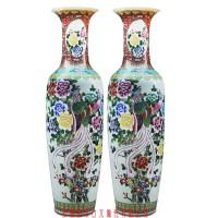 厂家直销家居客厅装饰摆件礼品陶瓷落地大花瓶