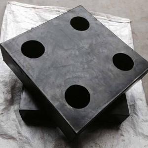 四孔减震橡胶支座 板式橡胶支座厂家 多孔橡胶减震支座