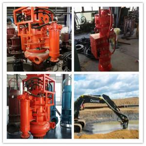 潜水搅拌液压吸泥泵,挖机排泥泵,钩机泥灰泵