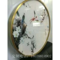 臻劲欧式不锈钢装饰画定制相框客厅金属圆形油画画框铝合金定制