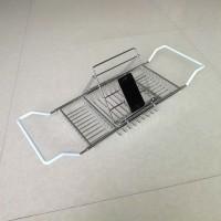 厂家直销304不锈钢浴缸架伸缩可调置物架酒店浴缸阅读架
