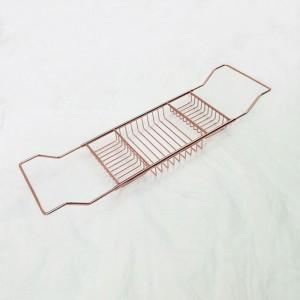 厂家直销玫瑰金色全304不锈钢浴缸架泡澡专用多功能浴缸收纳架