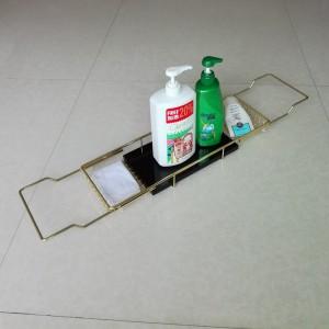 金色304不锈钢浴缸架浴室泡澡亚克力托板架多用途浴缸置物架