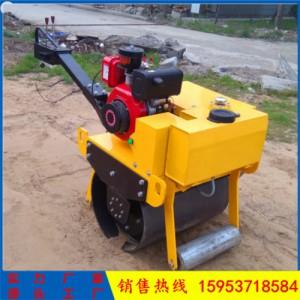回填土振动压路机 单钢轮小型压土机小型手扶震动压路机