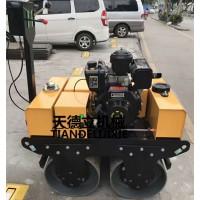 YS600柴油双轮小型手扶压路机 堤坝修筑手扶压实机