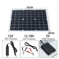深圳直销太阳能板单晶50w户外便捷式充电板发电板户外便捷式