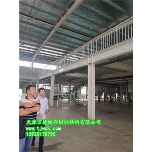 介绍上海仓储钢结构平台图表.插画