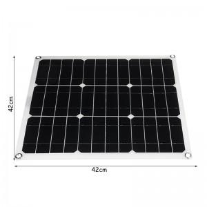 單晶20w太陽能充電板發電板 戶外野餐自駕游專用太陽能板