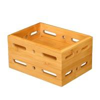 无盖竹木收纳盒折叠竹木盒