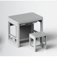 博奥全塑翻转电脑桌双人位手动翻转显示器电脑桌生产厂家