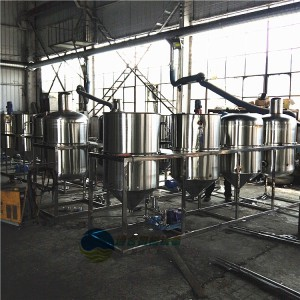 食用油精炼生产线 茶籽食用油精炼设备 食用油精炼机