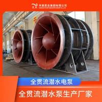 慈溪市水利工程用QGWZ全贯流潜水泵卧式安装