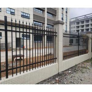 清远小区隔离栏杆 社区外墙通透护栏 厂房金属围墙定做