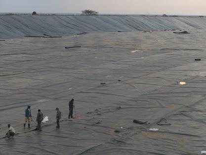 珠海市垃圾填埋场污水处理库区防渗膜