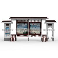热销公共汽车站台仿古公交站台候车亭不锈钢站台候车亭厂家制作