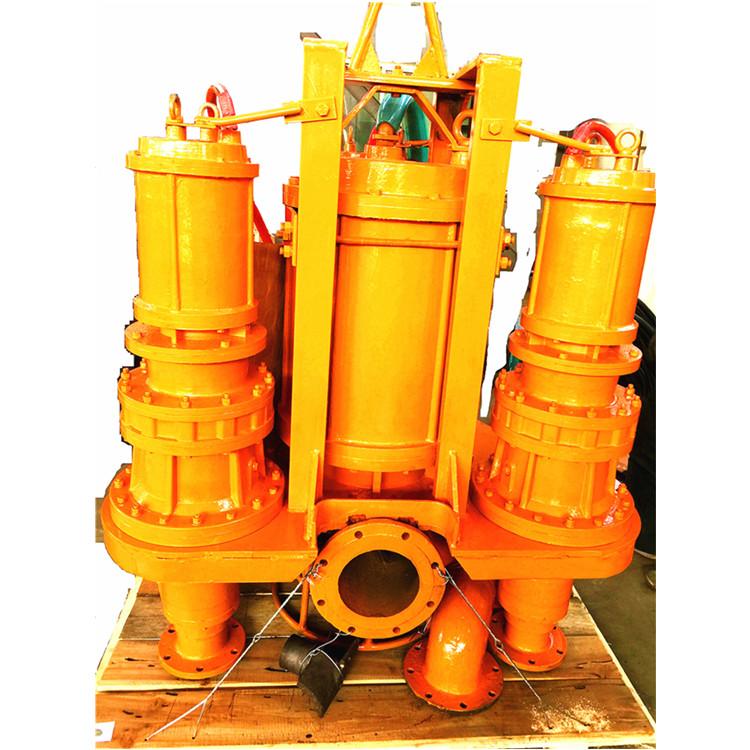 挖机清淤泥泵液压潜水抽沙泵作业视频